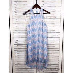 Dainty Hooligan | Chevron Halter Trapeze Dress